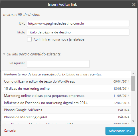 adicionando-links-editor-wordpress